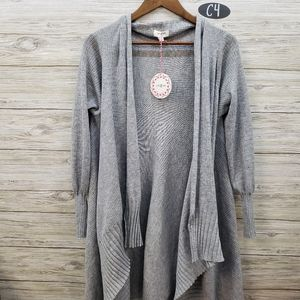 Umgee NWT Long Sleeve Gray Sweater Cardigan